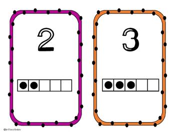 Five Frame Number Cards