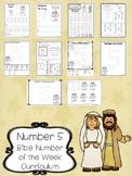 Number 5 Isaac and Rebekah Printable Bible Worksheets. Bible Number of the Week.