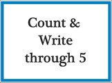 Smart Board Activity Counting and Writing to 5