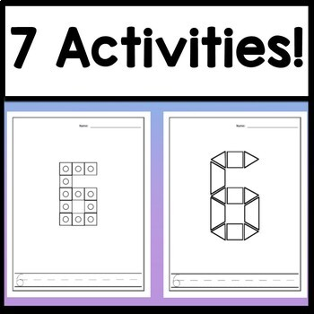 Number 6 Mini Bundle {Number 6 Worksheets and Six Number 6 Activities!}