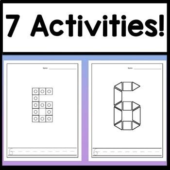 Number 6 Worksheet and Number 6 Activities! {Number of the Day Kindergarten}