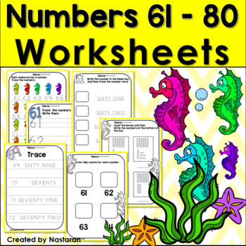 Numbers Unit: Learning and Practicing Numbers 61-80