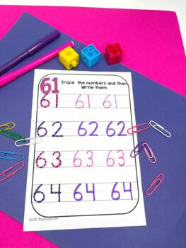 Numbers 61-80: Numbers To 80 Worksheets