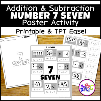 Addition and Subtraction Number 7 Poster Worksheets