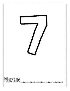 Number 7 Color and Trace Number Book