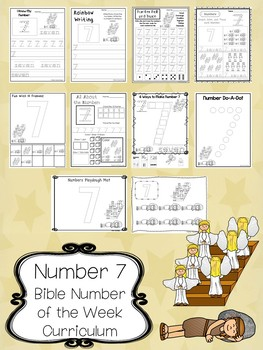 Number 7 Jacob's Ladder Printable Bible Worksheets. Bible Number of the Week.