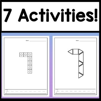 Number 7 Mini Bundle {Number 7 Worksheet and Six Number 7 Activities!}