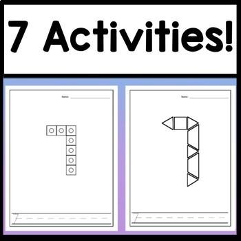 Number 7 Worksheet and Number 7 Activities! {Number of the Day Kindergarten}
