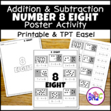 Number 8 Addition and Subtraction Poster Activity