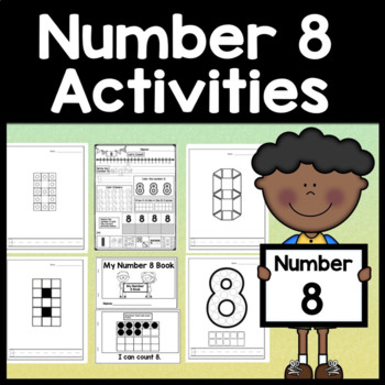Number 8 Worksheet and Number 8 Activities! {Number of the Day Kindergarten}