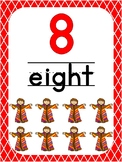 Number 8 Printable Bible Number Poster. Preschool-Kindergarten Numbers.