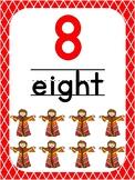 Number 8 Printable Bible Number Poster. Preschool-Kindergarten Numbers.