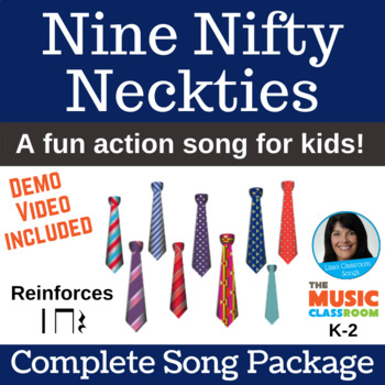 "Number 9 Action Song | ""Nine Nifty Neckties"" 