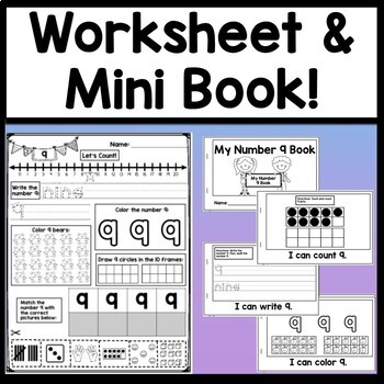 Number 9 Mini Bundle {Number 9 Worksheets and Six Number 9 Activities!}