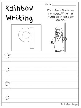 Number 9 Moses Printable Bible Worksheets. Bible Number of the Week.