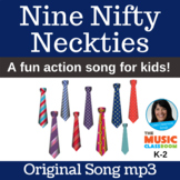 """Number 9 Song   """"Nine Nifty Neckties"""" by Lisa Gillam   Song mp3"""