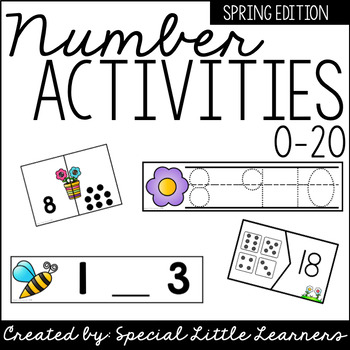 Number Activities 0-20 {Spring Themed}