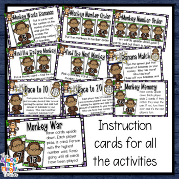 Number Activities 1-20 - matching, number order, 1 to 1 counting, addition +more