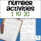 Number Activities 1 to 20 (NSW Foundation Font)  - Distanc