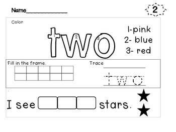 Number Activities {Craftivity} Common Core FREE