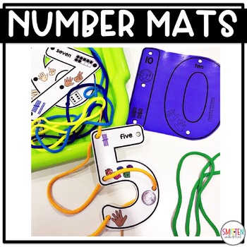 Number Activities | Lacing Number Mats | Fine Motor | Lacing Cards
