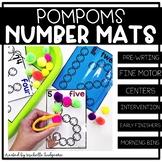 Number Activities | PomPom Number Mats task cards | Fine Motor