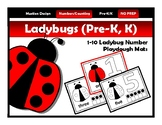 Number Activity Mats & Playdough Mats 1-10 Ladybug Theme