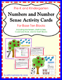 Number Activity Mats and Activity Cards for Base Ten Block