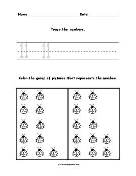 Number Activity Set 1-15