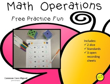Free Number Addition to 10 Dice Game Butterfly Theme
