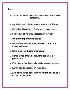 Number Adjectives