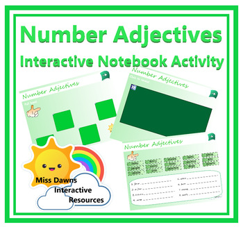 Interactive Number Adjectives Activity for IWB
