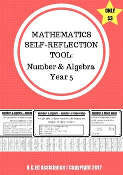 Number & Algebra Self-Reflection Tool - Year 5