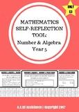 Number & Algebra Self-Reflection Tool - Year 5