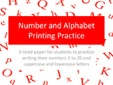 Number & Alphabet Writing