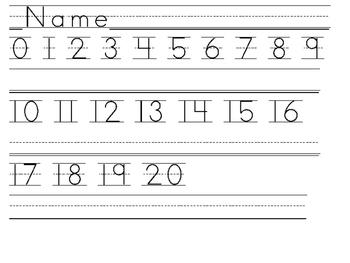 Number & Alphabet Writing