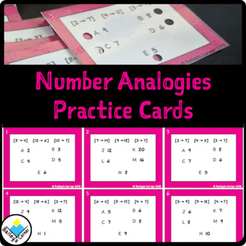 Number Analogies Multiple Choice Practice Task Cards