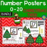 CHRISTMAS Math - Number Anchor Charts 0-10 + 11-20 {CHRISTMAS TREES}