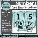 Rustic Coastal Farmhouse Number Posters 0-20