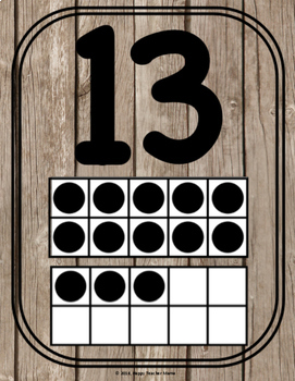 Number Anchor Charts 0-20 {Rustic Wood}
