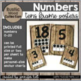 Rustic Farmhouse Number Posters 0-20