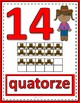 Number Anchor Charts 0 to 20 with Ten Frames - Cowboys - French