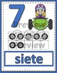 Number Anchor Charts 0 to 20 with Ten Frames -  Race Cars Spanish