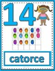 Number Anchor Charts 0 to 20 with Ten Frames -  Summer Spanish
