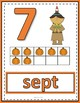 Number Anchor Charts 0 to 20 with Ten Frames Thanksgiving Theme - French
