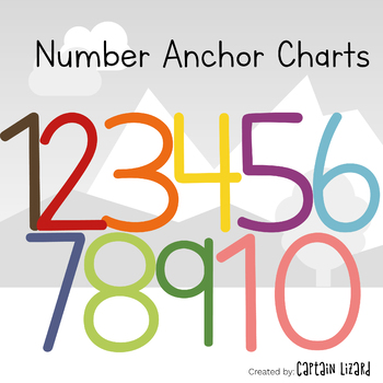Number Anchor Charts 1-10