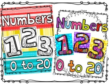 Number Anchor Charts Bundle Color and Black and White Prin