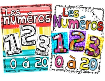 Number Anchor Charts Poster Bundle ~ FRENCH