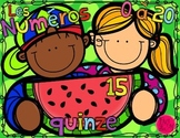 Number Anchor Charts ~ FRENCH ~ Watermelon Posters 0 - 20