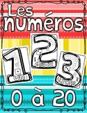 Number Anchor Charts Posters ~ French ~ 0 - 20